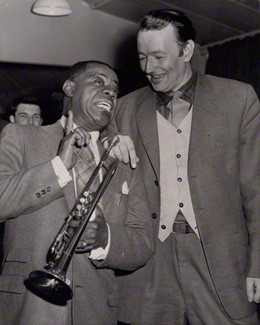 NPG x194288; Louis ('Satchmo') Armstrong; Humphrey Lyttelton by Planet News