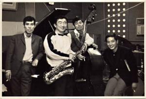 [Photo above, from left, Kunihiro Sugano,Hidehiko Matsumoto,Isao Suzuki,George Otsuka]