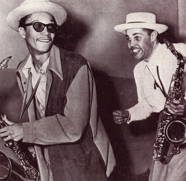 Photo above of Dexter Gordon and Wardell Gray