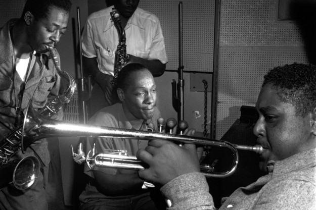 Photo above of Charlie Rouse and Tadd Dameron and Fats Navarro