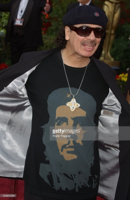 Carlos Santana arrive at the 77th Annual Academy Awards® at the Kodak Theatre.
