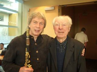 Photo above of Richard Stoltzman with his teacher Keith Wilson